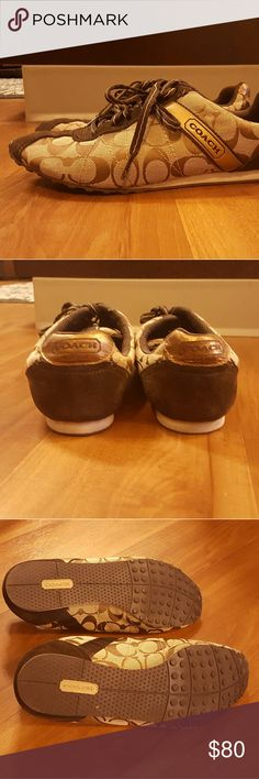 Coach tennis shoes Barely worn, but very comfortable tennis shoes. Size 8.5 Coach Shoes Sneakers