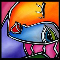Make Time  Original Abstract painting Modern pop Art by fidostudio, $225.00