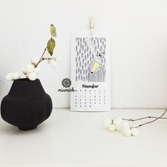 Wandkalender - Kalender 2017 Kunstdruck Illustration modern - ein Designerstück von miameideblog bei DaWanda