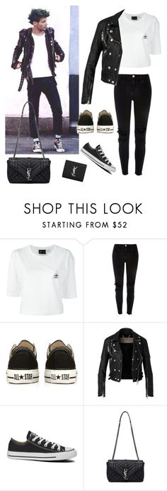 """Steal his style : Louis Tomlinson"" by maryanacoolstyles ❤ liked on Polyvore featuring adidas, River Island, Converse, Burberry and Yves Saint Laurent"