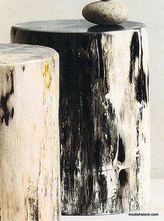Roost Petrified Wood Stools