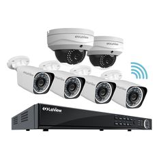 LaView 1080P 8CH Wifi Wireless Security Camera System 4x IP Bullet 2xIP Dome 2MP Cameras w/ 2TB Hdd Remote View