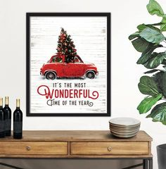 Hauling The Christmas Tree in A Red Car: It's the Most Wonderful Time Of The Year
