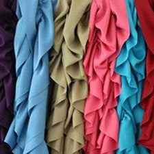 Scarves in different colors