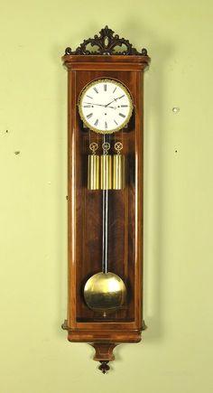 Antiques Atlas - Outstanding Inlaid Beiedermeier Vienna Wall Clock