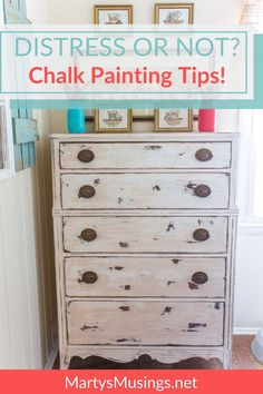 Can't find answers to your questions on chalk painting? This post has it all, from learning how to use chalk paint wax to tips on distressing and more!