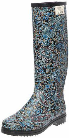 Aigle Womens Rain Boots Chantelib Liberty Print Welly Black SZ 9-9.5 M Aigle,http://www.amazon.com/dp/B007NG40T6/ref=cm_sw_r_pi_dp_YCOytb021A7K92M1