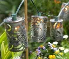 tin can garden lights