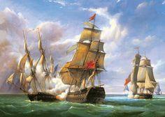 Castorland Puzzle 3000 T. Gilbert: Seegefecht (C-300037) Schiffe Meer in Spielzeug, Puzzles & Geduldspiele, Puzzles   eBay