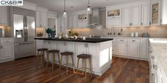 Sorrento Sable Glazed Latte - Ready To Assemble Kitchen Cabinets - Kitchen Cabinets Diy Kitchen, Kitchen Interior, Kitchen Design, Kitchen Ideas, Distressed Cabinets, Wood Cabinets, Light Kitchen Cabinets, Cabinet Companies, Kitchen Organization