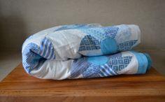 Vintage Pinwheel Pattern Quilt Blanket. Vintage Blue by catbedoven, $80.00