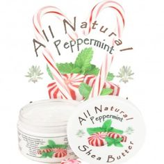Peppermint Infused Shea Butter  123sheabutter.com