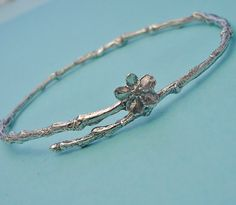 forget me not bracelet twig jewelry large bangle by stratussilver $ 58.00 on etsy