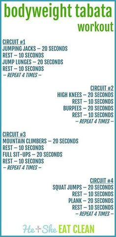 Bodyweight Tabata Workout | Posted By: NewHowToLoseBellyFat.com