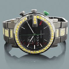 Mens Yellow Diamond Watch: GUCCI G Chrono 6.00ct