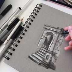 #art #drawing #pen #sketch #illustration #castle #tisbury #wiltshire #architecture