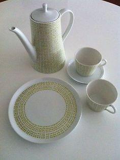 Melitta-Zuerich-Gelbe-Schleifen-Kaffeeservice-Vintage