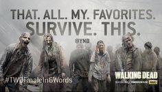 "The Walking Dead AMC on Twitter: "".@YNB is getting her notebook ready for tomorrow! Tweet us your #TWDFinaleIn6Words."""