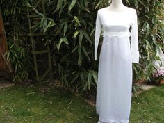 1960s High Waist Satin Wedding Dress with by Petticoatjanevintage, £45.00