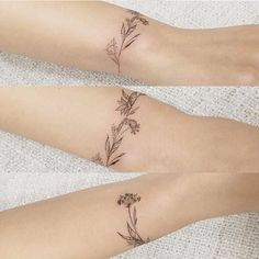 Delicate flower bracelet tattoo by tattooist_flower #flower #bracelet #delicate #linework #blackwork #fineline
