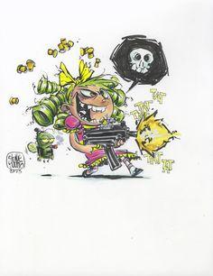 I Hate Fairyland I Gert and her Uzi by Skottie Young