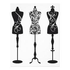 vintage silhouettes | Vintage fashion mannequins silhouettes letterhead from Zazzle.com