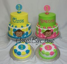 mod monkey this cake is cute! Might make it