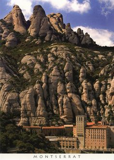 Monserrat, Spain. Monks that don't speak at all roam the countryside. Statuary, age old buildings in the mountains, clouds lower than the mountains. Beautiful and so quiet.