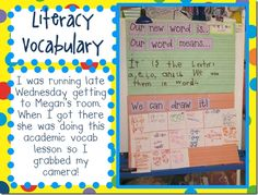 teaching vocabulary - neat chart and ideas