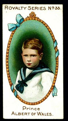 Cigarette Card - Prince Albert of Wales by cigcardpix, via Flickr