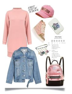 """""""Bip Bip Pink'"""" by dianefantasy ❤ liked on Polyvore featuring Steve J & Yoni P, Imm Living, Hollister Co., Christian Louboutin, Betsey Johnson, MCM, BackToSchool, polyvorecommunity and polyvoreeditorial"""