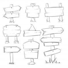 You Doodle wooden signs, Hand-drawn wooden Direction arrows vector set. - You Doodle wooden signs, Hand-drawn wooden Direction arrows vector set. Sketch made of wood …, - Bullet Journal Banner, Bullet Journal Writing, Bullet Journal Ideas Pages, Bullet Journal Inspiration, Doodle Drawings, Easy Drawings, Easy Doodle Art, How To Doodle, Doodle Doodle