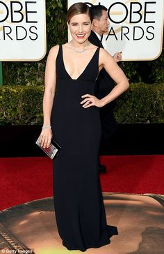 Bringing the glamour: Presenters Jaimie Alexander and Sophia Bush wowed on the Golden Globes red carpet in Beverly Hills on Sunday