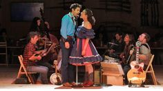 Damon Daunno (Curly) and Amber Gray (Laurey) star in director Daniel Fish's experimental retelling of Rodgers and Hammerstein's Oklahoma!