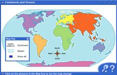 map of the seven continents without labels - Google Search