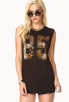 Forever 21 Fresh Leopard 85 Muscle Tee on shopstyle.com