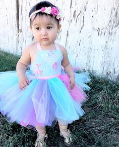 Toddler Ballet Dress in Rainbow Pastels