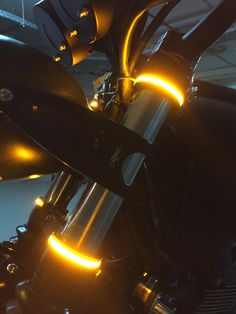 Wrap Around LED Fork Turn Signal Kit from MBW installed on their Triumph Scrambler. Motorcycle Lights, Cafe Racer Motorcycle, Motorcycle Gear, Cafe Racer Parts, Cafe Racer Build, Moto Cafe, Cafe Bike, Custom Motorcycles, Custom Bikes