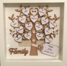 36 New Ideas For Birthday Card Diy Husband Paper Crafts Frame Crafts, Fun Crafts, Paper Crafts, Family Tree Frame, Family Trees, Family Tree With Pictures, Cute Scrapbooks, Heritage Scrapbooking, Family Crafts