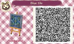"""perfect-pears: """"Super detailed blue tile I made that took me forever~ >o"""
