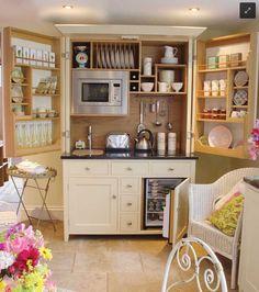 Culshaw Bell, Complete Kitchenette - traditional - Kitchen - London - Martina Williams (Perfect for Guest Suite) Ikea Design, Küchen Design, Design Ideas, Interior Design, Interior Ideas, House Design, Design Room, Smart Design, Clever Design