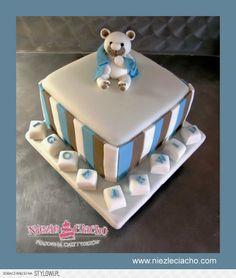 Misiu, miś, misio, biały miś, tort na chrzest, tort chrzcielny, torty dla dzieci, chrzest, dziecko, dzidziuś