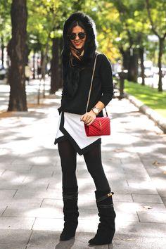 Fake-Fur Kapuze von Zara, Streetstyle