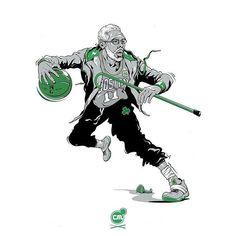 Uncle drew is on fire Kyrie Irving Logo, Kyrie Irving Celtics, Mvp Basketball, Basketball Legends, Nba Pictures, Basketball Pictures, Nba Sports, Sports Art, Best Nba Players
