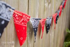 Bandana Flags for Rodeo, Cowboy or Cowgirl Themed Party