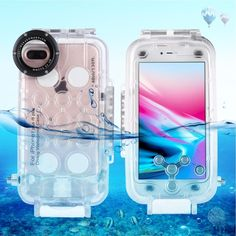 PULUZ Waterproof Diving Housing Photo Video Taking Underwater Cover Case for iPhone 8 Plus & 7 Plus(Transparent) Best Underwater Camera, Underwater Camera Housing, Iphone Cases Cute, Iphone 7 Plus Cases, Waterproof Iphone Case, Camera Hacks, Latest Gadgets, Underwater Photography, Diving