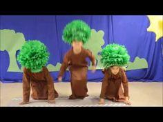 As Três Árvores - YouTube Tree Costume, Kindergarten Graduation, Dinosaur Stuffed Animal, Costumes, Diana, Artwork, Frozen, Kids, Play