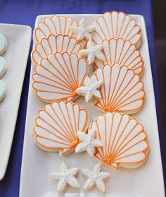 Beautiful cookies at a Goldfish Birthday Party!  See more party ideas at CatchMyParty.com!