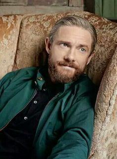 Martin Freeman with a beard 😳 Jim Moriarty, Sherlock John, Quotes Sherlock, Bbc Sherlock Holmes, Watson Sherlock, Martin Freeman, Andrew Scott, John Watson, Johnlock