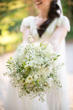 bouquet naturel gypsophile mariage en Provence by Un jour...Pour Vous